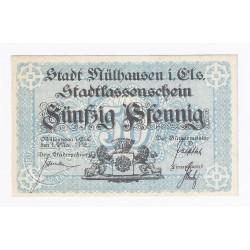 68100 - MULHOUSE (MULHAUSEN) - 50 PFENNIG 01/05/1918 - NEUF