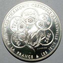 LA FRANCE ET LES JEUX - MEDAILLE ARGENT - 1992 - MONNAIE DE PARIS
