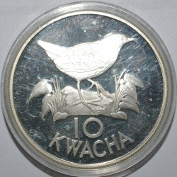 ZAMBIA - 10 KWACHA 1986 - OISEAU - BE