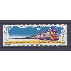 MAURITANIA - 100 + 35 FRANCS - TRAIN OF MIFERMA