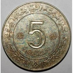 ALGERIE - 5 DINARS 1962/1972 - ARGENT