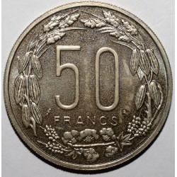 AFRIQUE EQUATORIALE FRANCAISE - 50 FRANCS 1961 - ESSAI - SUPERBE