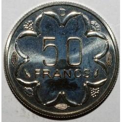 AFRIQUE CENTRALE - 50 FRANCS 1976 D - ESSAI - FLEUR DE COIN