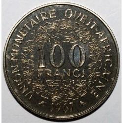 AFRIQUE DE L'OUEST (BCEAO) - ESSAI - 100 FRANCS 1967 - FLEUR DE COIN