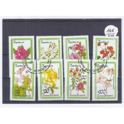 GUINEA - 8 STAMPS - FLOWERS