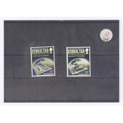 GIBRALTAR - 2 TIMBRES 17 P + 23 P - 1984