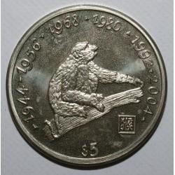 LIBERIA - KM 359 - 5 DOLLARS 1997 - MONKEY - UNC
