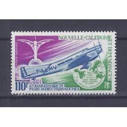 NOUVELLE CALEDONIE - 110 FRANCS 1972 - 40 ANS DU RAID AERIEN PARIS NOUMEA