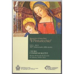 SAN MARINO - 2 EURO 2013 - 500 YEARS SINCE THE DEATH OF PAINTER PINTURICCHIO
