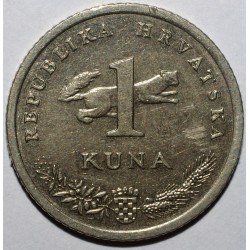 CROATIA - KM 20 - 1 KUNA 1993 - Nightingale