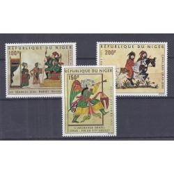 NIGER - 3 TIMBRES - 100 + 150 + 200 FRANCS - 1971