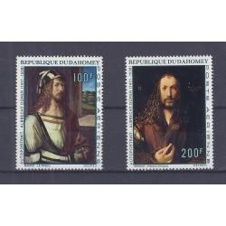 DAHOMEY - 2 TIMBRES - 100 + 200 FRANCS - ALBRECHT DÜRER