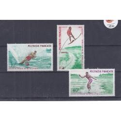POLYNESIE FRANCAISE - 10 + 20 + 40 FRANCS 1971 - COUPE DU MONDE DE SKI NAUTIQUE
