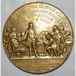 MEDAL - 59 - COMPANY OF ANZIN'S MINES - 150 YEARS - 1757 - 1907