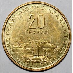 AFARS ET ISSAS - 20 FRANCS 1968 - ESSAI - FLEUR DE COIN