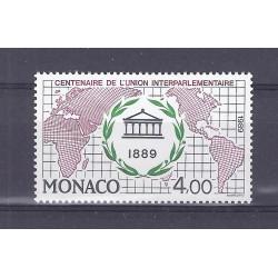 MONACO - 1989 - 4 FRANCS - CENTENAIRE DE L'UNION INTERPARLEMENTAIRE