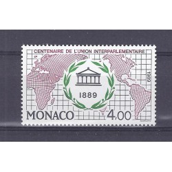 MONACO - 1989 - 4 FRANCS - CENTENARY OF THE INTER-PARLIAMENTARY UNION