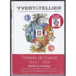 TIMBRES DE FRANCE 2018 - YVERT ET TELLIER - TOME 1