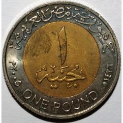 EGYPT -1 POUND 2005 - TUTANKHAMUN - UNC - KM 940 a