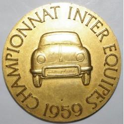 AUTOMOBILE DAUPHINE - 1959 - OR - CHAMPIONNAT INTER ÉQUIPE