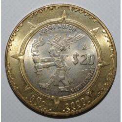 MEXIQUE - KM 637 - 20 PESOS XIUHTECUHTLI - 2000 - FDC