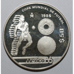 MEXICO - KM 504 - 50 PESOS - 1985 - SOCCER WORLD CUP - PROOF