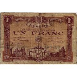 58 - NEVERS - CHAMBRE DE COMMERCE - 1 FRANC 1920 - TRES BEAU