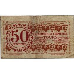 37 - TOURS - CHAMBRE DE COMMERCE - 50 CENTIMES 1920 - TRES BEAU