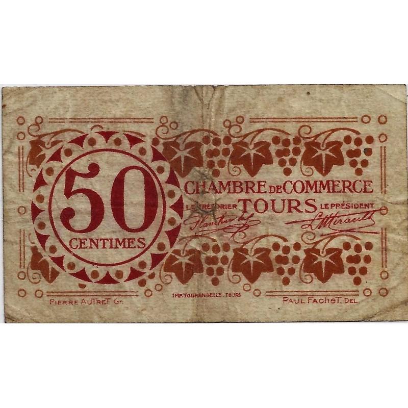 37 tours chambre de commerce 50 centimes 1920 tres for Chambre de commerce de tours