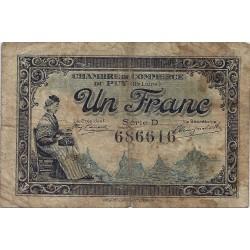 43 - LE PUY - CHAMBRE DE COMMERCE - 1 FRANC 1916 - TRES BEAU
