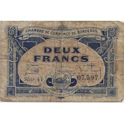 33 - BORDEAUX - CHAMBRE DE COMMERCE - 2 FRANCS 1920 - TRES BEAU