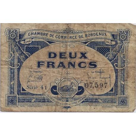 33 bordeaux chambre de commerce 2 francs 1920 tres beau - Chambre du commerce bordeaux ...