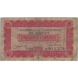54 - NANCY - CHAMBRE DE COMMERCE - 50 CENTIMES 1921 - TRES BEAU
