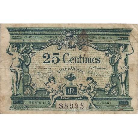 49 angers chambre de commerce 25 centimes 1915 tres beau. Black Bedroom Furniture Sets. Home Design Ideas
