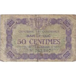 55 - BAR LE DUC - CHAMBRE DE COMMERCE - 50 CENTIMES 1922 - TRES BEAU