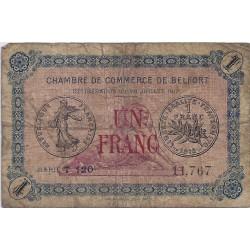 90 - BELFORT - CHAMBRE DE COMMERCE - 1 FRANC 1917 - TRES BEAU