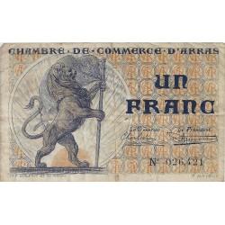 62 - ARRAS - CHAMBRE DE COMMERCE - 1 FRANC 1923 - TRES BEAU