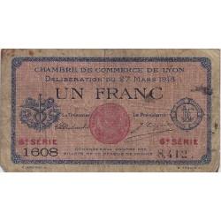 69 - LYON - CHAMBRE DE COMMERCE - 1 FRANC 1918 - TRES BEAU