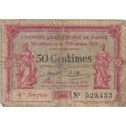 21 - DIJON - CHAMBRE DE COMMERCE - 50 CENTIMES - 01/12/1919 - TRES BEAU