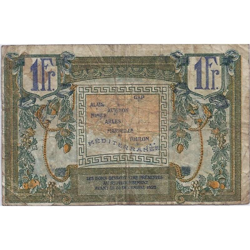 13 region provencale chambre de commerce de marseille 1 franc 1922 tres beau - Chambre des commerce marseille ...