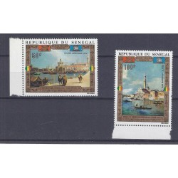 SENEGAL - 2 STAMPS - 50 FRANCS + 100 FRANCS 1972 - UNESCO - VENICE