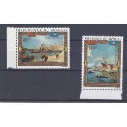 SÉNÉGAL - 2 TIMBRES - 50 FRANCS + 100 FRANCS 1972 - UNESCO - VENISE