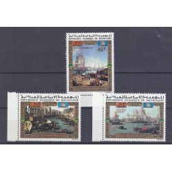 MAURITANIE - 3 TIMBRES - 45 FRANCS + 100 FRANCS + 250 FRANCS 1972 - UNESCO - VENISE