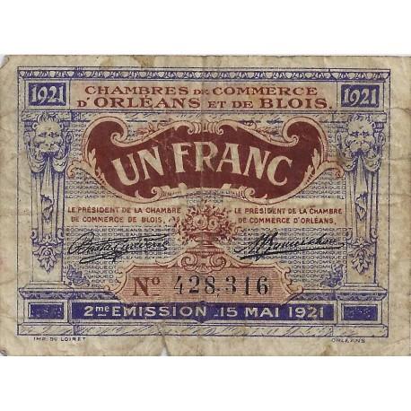 45 41 orleans blois chambre de commerce 1 franc 1921 for Chambre de commerce orleans