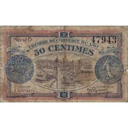 46 - LOT - CHAMBRE DE COMMERCE - 50 CENTIMES 1920 - TRES BEAU