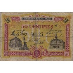 87 - LIMOGES - CHAMBRE DE COMMERCE - 50 CENTIMES 1923 - TRES BEAU