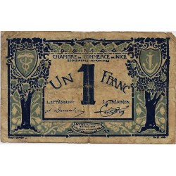 06 - NICE - CHAMBRE DE COMMERCE - 1 FRANC 1920 - TRES BEAU