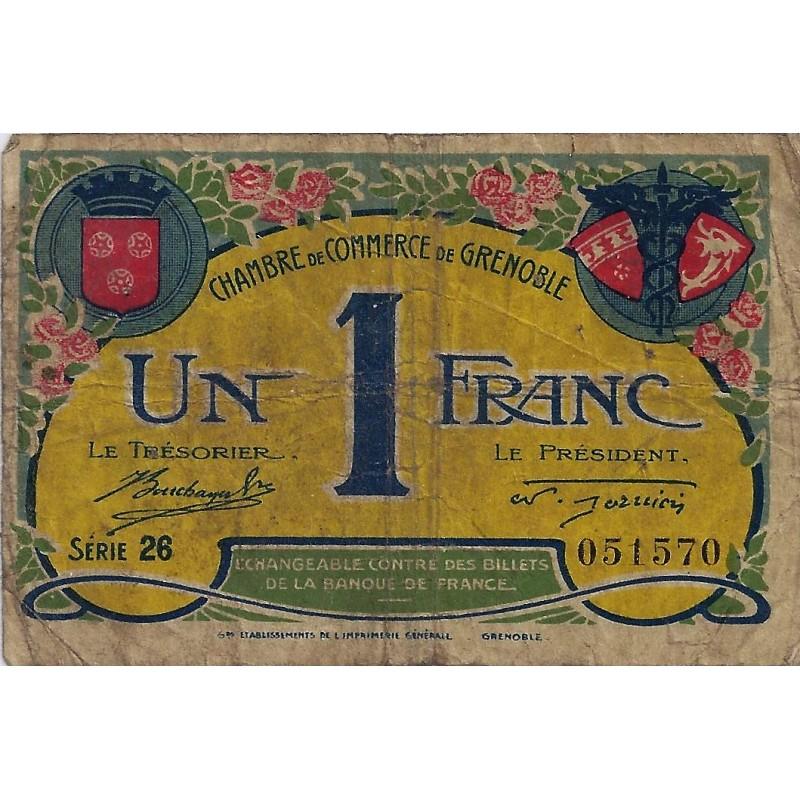 38 grenoble chambre de commerce 1 franc 1917 tres beau for Chambre de commerce grenoble