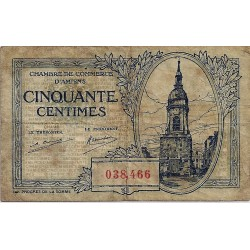 80 amiens chambre de commerce 50 centimes 1922 for Chambre de commerce amiens