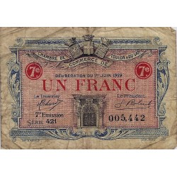 83 - TOULON - CHAMBRE DE COMMERCE - 1 FRANC 1922 - TRES BEAU